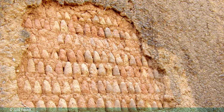 Thick adobe walls made with Tubali: Emir's Palace of Katsina (replica at Museum of Traditional Nigerian Architecture)